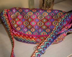 Bolsa carteiro patchwork