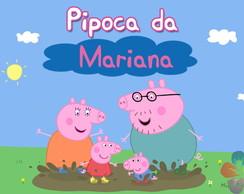 Adesivo Balde De Pipoca - Peppa Pig