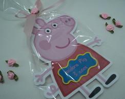 Convite Recortado Peppa Pig