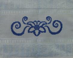 Toalha de Lavabo - Flor azul (mono)