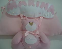 Quadro Maternidade Ursa Rosa