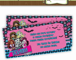 Convite Ingresso Monster High