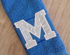 """Toalha de M�o - Monograma em Aplique """"M"""""""