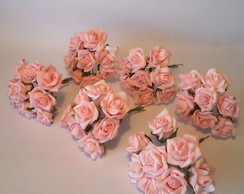Mini buqu� de rosas, rosa diamante