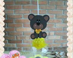 Centro de mesa Urso marrom e amarelo