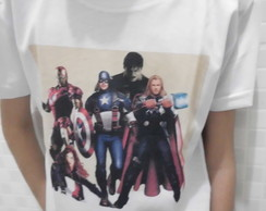 Camiseta infantil Vingadores