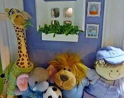 Enfeite porta de maternidade safari kids