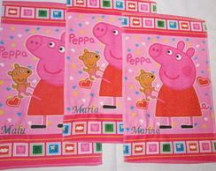 Toalhinha escolar Personagens Peppa Pig