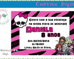 Convite Digital - Monster High