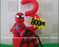 Cubo com Vela:Homem Aranha