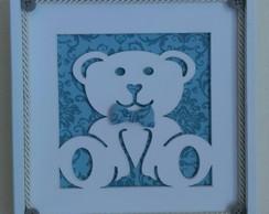 Quadrinho Vazado-Ursinho Encantado Azul