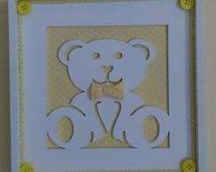 Quadrinho Vazado - Ursinho Amarelo