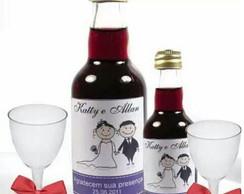 Kit Vinho e Tacinhas Casamento e Noivado