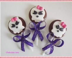 Pirulito de chocolate Monster High