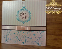 Convite de Casamento - Cole��o Royal