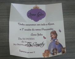Convite Caixa Princesinha Sofia