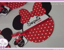 Convite Minnie Luxo