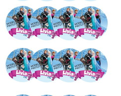 Frozen - Adesivos p/ latinhas - 15 un