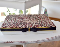 Caixa MDF Decorativa Animal Print On�a