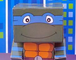 Caixinha Lembrancinha Tartarugas Ninjas
