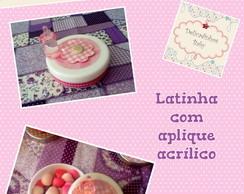 Latinhas Scrapbook com aplique acr�lico