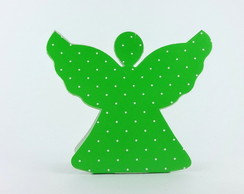Caixa Anjinho - Verde Po� Branco