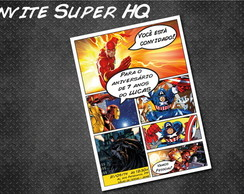 HQ Marvel Comics Convite Personalizado