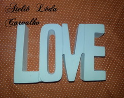 MOLDE SILICONE PALAVRA LOVE GG