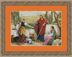 Ponto Cruz - Jesus com Marta e Maria