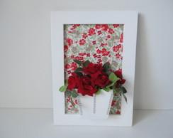 Quadro Flores Vermelhas-Pronta Entrega