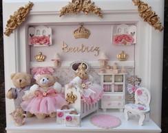 Quadro Maternidade Beb� Fam�lia Boneca P