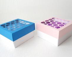 Caixa personalizada com mini p�o de mel