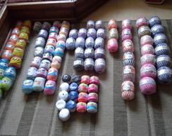 Barbantes e linhas para croch�