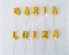 Toppers para Doces - Maria Luiza