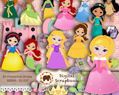 Kit Scrap Digital - Princesinhas Disney