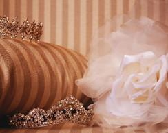 Flor de tecido para noiva