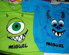 Camiseta Divertida mike ou sulley
