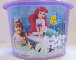 Balde De Pipoca Personalizado Ariel