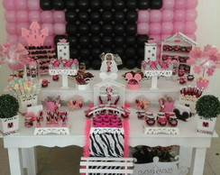Loca��o Decora��o Minnie Zebra
