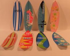Adesivos Prancha de Surf com Nomes