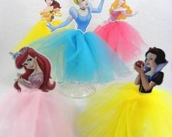 Enfeites de mesa Princesas 20cm