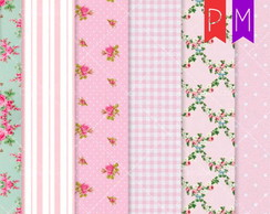 Kit Papel Digital Shabby Chic Modelo 114