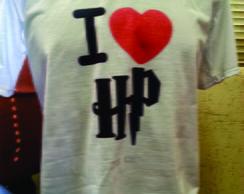 Camiseta Eu Amo Harry Potter