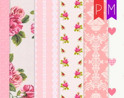 Kit Papel Digital Shabby Chic modelo 116