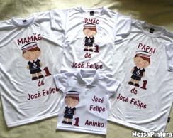 Camiseta Marinheiro Adulto/Infantil