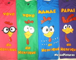 Camiseta Galinha Pintadinha - Infantil