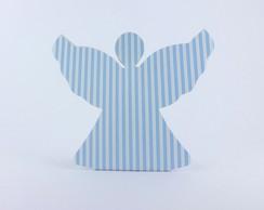 Caixa Anjinho - Listrado Azul e Branco
