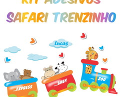 Kit Adesivo Safari Trenzinho - M�dio
