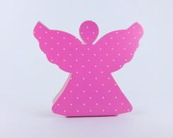 Caixa Anjinho - Rosa Po� Branco