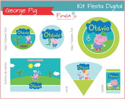 Kit Festa Digital George Pig